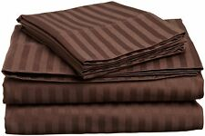 Luxury Chocolate Color 1200TC 4PCs Sheet Set 100%Egyptian Cotton USA Queen Size
