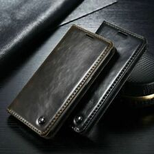 Vintage Magnetic Flip Wallet Leather Stand Case Cover For Samsung Galaxy Model