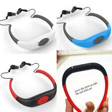 Waterproof Sport MP3 Player 4/8GB FM Radio Headset For Swimming Surfing Diving