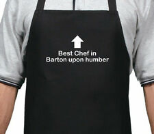 PERSONALISED BEST CHEF IN BARTON UPON HUMBER APRON XMAS BIRTHDAY GIFT