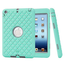 Crystal Hybrid Shockproof 3 Layer Heavy Duty Rubber Case Cover For iPad Mini123