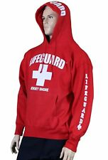 Lifeguard Jersey Shore NJ Life Guard Sweatshirt Red New Jersey Beach Swim Gear