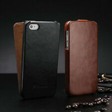 Retro Vertical Flip Leather Case Fitted Cover Pouch For Apple iPhone 4/4S/5/5S
