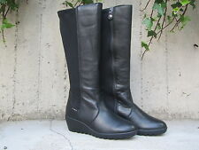 Shoes Enval soft Women's 49590 boots black Leather Made in Italy comfort zip mod