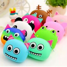 Cute Cartoon Animal Silicone Coin Purse Wallets Rubber Cosmetic Bag New