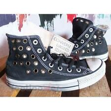 Shoes Converse All Star Hi Eyes Shut 1C379 man women's Black Old Effec Studs LTD