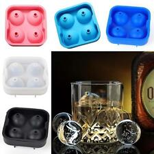 Ice Silicon Cube Ball Whiskey Make Mold Sphere Mould Party Brick Tray Bar DIY SS