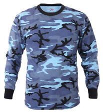 t-shirt camo long sleeve sky blue camouflage cotton poly blend rothco 67770