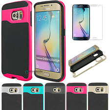 New Dual Layer Hybrid Armor Defender Hard Case Cover for Samsung Galaxy S6 edge