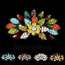 ADD'L Item FREE Shipping - Antiqued Rhinestone Crystal Hair Barrette Clip