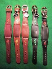 VTG 70's NOS Hippie Wide Ladies Leather Watch Bands CHOICE Flower Buckle Color