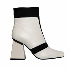 Jeffrey Campbell Vicar Boots in White & Black