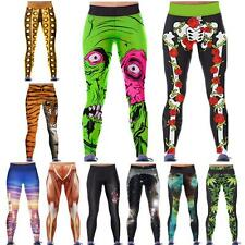 Fashion Women Trousers Ladies Leggings Digital Space 3D Print Skinny Pants WJ4F