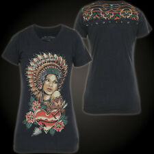 Affliction T-Shirt White Fawn Black