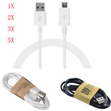 1X/2X Lot USB 2.0 A to Micro B Data Sync Charge Charging Cable For Cell Phones
