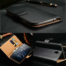 Luxury Genuine Real Leather Card Holder Flip Wallet Case Cover For Lenovo Models