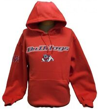 NEW! California State University, Fresno Bulldogs Long Sleeve Hoodie - Red
