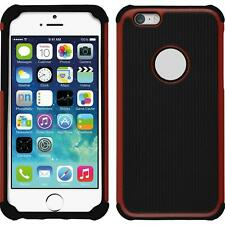 Hybrid Case Apple iPhone 6s / 6 ShockProof Hexagon red Cover + protective foils