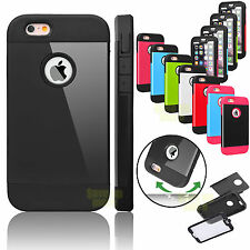 Hybrid Rubber Hard Protective Case Cover Built-in Screen For Apple iPhone 6 6S