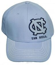 New! North Carolina Tar Heels Adjustable Velcro Back Hat Embroidered Cap - Blue