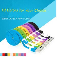 1M/2M Flat Noodle Micro USB Charge Sync Data Cable Cord For Android mobliePhone