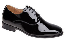 NEW MENS LEATHER LINED SHINY PATENT LACE-UP DRESS FORMAL WEDDING SHOES UK 6-14