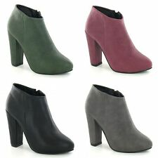 Anne Michelle Womens/Ladies Zip Fastening High Heel Ankle Boots 3-8