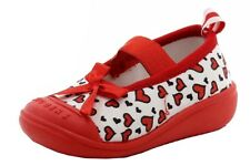 Skidders Infant Toddler Girl's Red/White Heart Polka Dot Canvas Mary Janes Shoes