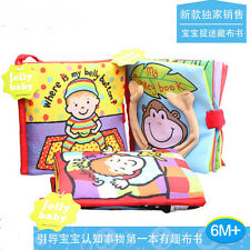 colorful monkey person cloth book multifunctional baby toy first book gift 1pc