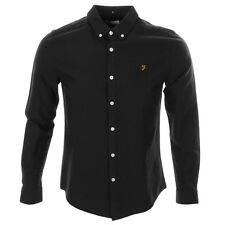 Farah Vintage Long Sleeve Brewer Shirt Black - Free Next Day Delivery