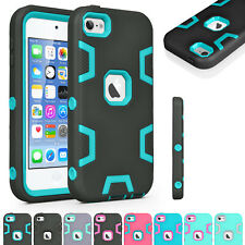 Shockproof Silicone Hybrid Rubber Matte Case Cover Skin for iPod Touch 5 / 6