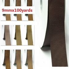 "Wholesale 100 Yards Best YAMA Grosgrain Ribbon 3/8"" /9mm Ivory to Brown for bow"
