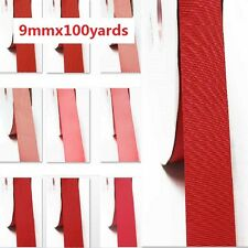 """by  wholesale 100 yards best yama grosgrain ribbon 3/8"""" /9mm. for rose to red"""
