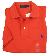 RALPH LAUREN Polo shirt CLASSIC FIT orange 100% Piqué cotton