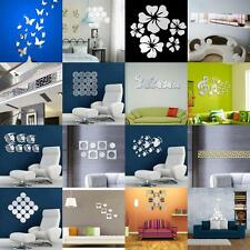 Various Set Home DIY Decor Mirror Wall Sticker Ceiling Side Line Decal Art Mural