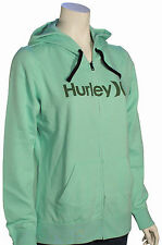 Hurley One and Only Icon Women's Zip Hoody - Heather / Enamel Green - New