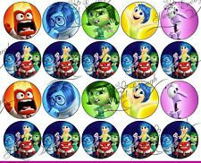 35 Inside Out Bun Disney BIRTHDAY Edible Wafer Rice Paper Cup Cake Topper