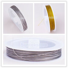 Roll Nylon Stainless Steel Tiger Tail Beading Wire Thread Cord Jewelry Repair