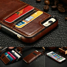 Luxury Ultra Slim Leather Wallet Card Back Case Cover For Apple iPhone 7 6S Plus