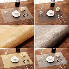 Table Mats Insulation Bowl High-grade Dining Room Kitchen Placemats Pad Set of 4