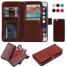 Luxury 9 Card Slot Leather Wallet Case Flip Cover For Apple iPhone 6 6S 6 S Plus