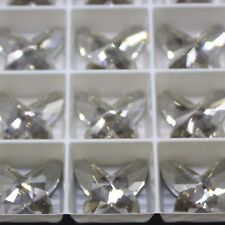 Swarovski  Elements 2854 18mm Butterfly Flat back CRYSTAL SILVER SHADE FOILED
