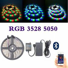 5M SMD 5050 3528 RGB Flexible LED Strip Light Bluetooth Remote Controller