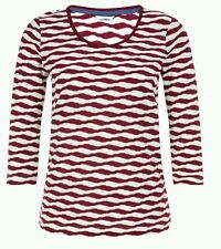 NEW DASH RED WHITE TWISTED STRIPE TOP 10 to 20 RRP £35
