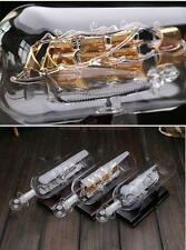 Ship Sailing Boat in Bottle Home Room Nautical Decor Wedding Party Gift + Base