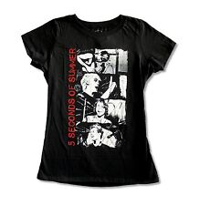 """5 SECONDS OF SUMMER """"STACKED PHOTOS"""" BLACK BABYDOLL T-SHIRT NEW OFFICIAL JRS"""