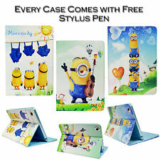Despicable Me Minion Leather Stand Wallet Case Cover For Apple iPad Mini 1 2 & 3