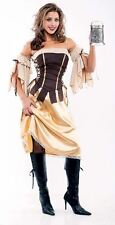 Ladies Tavern Wench Beer Festival Pirate Medieval Fancy Dress Costume 009244
