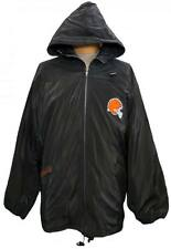 NEW! Cleveland Browns Embroidered Zip-up Windbreaker Rain Coat Poncho DEFECTIVE