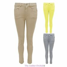 WOMENS LADIES STRETCH COLOURED JEGGINGS SLIM SKINNY FIT SUMMER JEANS TROUSERS
